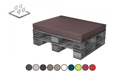 Coussin imperméable éco pour extérieur 120 x 80 x 8