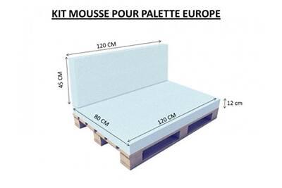 Coussin Pour Chaise De Jardin Coreme Kit Mousse Palette Europe 12 Cm