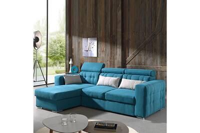 En Moon Tissu D'angle Bleu Convertible Canapé WEYDHI29