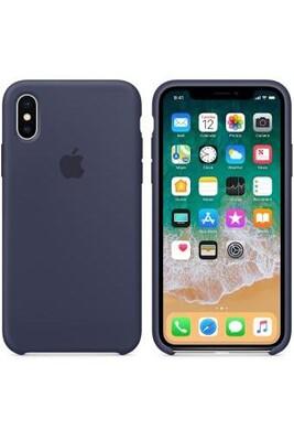 Coque silicone iphone x -bleu nuit