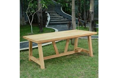 Table en teck effet recyclé 250 cm cheverny