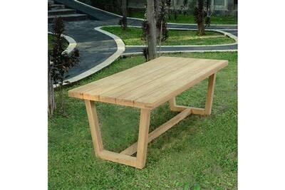 Table de jardin Teck\'attitude Table en teck effet recyclé 250 cm ...