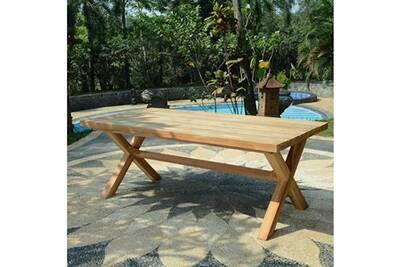 Table de jardin Teck\'attitude Table en teck effet recyclé 300 cm ...