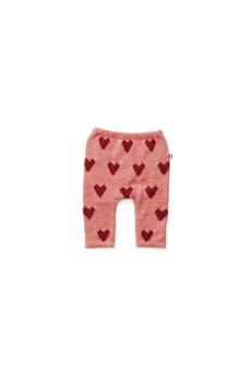 Cadeau Naissance Oeuf Baby Clothes Pantalon alpaga rose cours rouges 6m