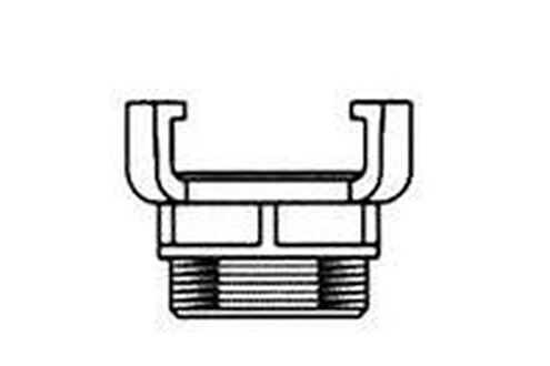 """Accessoires chauffage central Boîte symétrique avec filetage mâle - diamètre : 2 """" Oventrop"""
