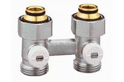 """Accessoires chauffage central THERMADOR Vannes bitube 1/2"""" en """"h"""" - vb15e vanne bitube 1/2"""" equerre - - pour radiateur à robinet intégrée"""