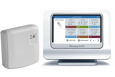 Accessoires chauffage central Honeywell Pack evohome wifi connecté - le pack thermostat avec module et support et passerelle de communication (version connectée)