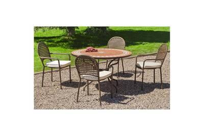 Ensemble table et chaise de jardin Hevea Jardin Ensemble tables et ...