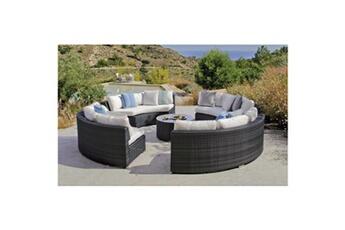 Salon de jardin Hevea Jardin Salon de jardin circulaire sofa ...
