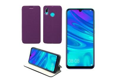 Huawei p smart 2019 etui / housse coque violet pochette slim