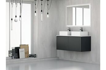 Meuble Salle De Bain Ensemble Gant 28 120cm Noir Ad Bath