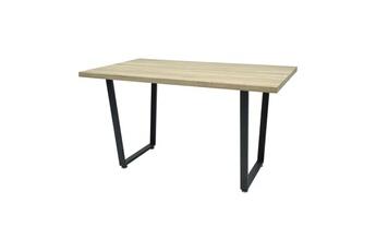 5ec3ebc06b5c1 Table Donna table a manger de 6 a 8 personnes - industriel - aspect bois  verni