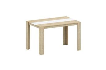 8fb092bc11203 Table Damia table a manger de 4 a 6 personnes style contemporain decor  chene et blanc