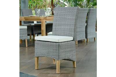 Chaise et fauteuil de jardin Teck\'attitude Chaise en résine tressée ...