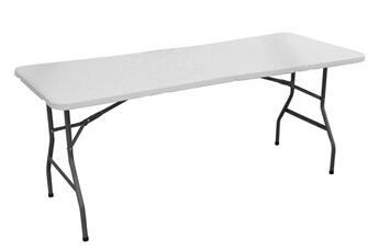 82102d9531ae7 Table Table à manger pliable en polypropylène coloris blanc - dim   180 x  75.5 x