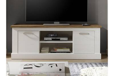 Meuble Tv Nouvomeuble Meuble Tv 160 Cm Blanc Et Bois Moderne Wood
