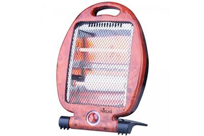 Radiateur électrique Niklas Chauffage d'appoint quartz 800w niklas 2 niveaux de chauffe sécurité anti basculement