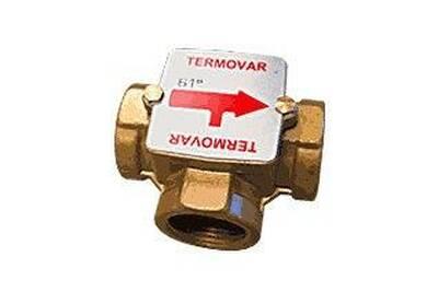 """Accessoires chauffage central THERMADOR Vanne thermique termovar pour chaudière à bois - raccordement : 1"""" 1/4 - température de consigne : 61° c"""