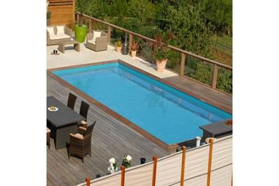 Piscine Hors Sol Egt Leisure Piscine Bois Sunbay Mint Rectangulaire