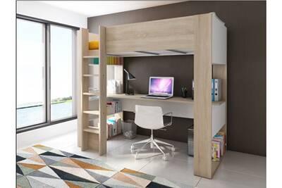 Design Bureau Noah.Lit Mezzanine Vente Unique Lit Mezzanine Noah Avec Bureau Et