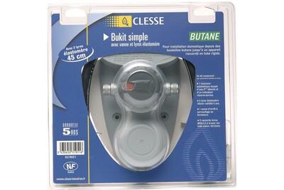 Accessoires chauffage central Clesse Industrie Kit de détente gaz butane bukit s - inversion automatique - entrée : m.m20x1,5 - sortie : braser 12