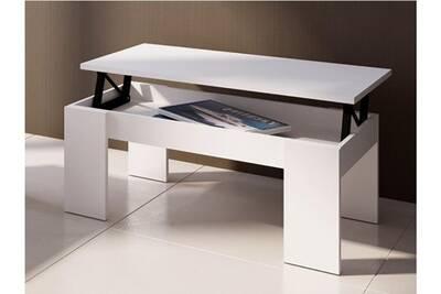 Coloris Plateau Basse Boisamp; Mdf Table Carmela Blanc Relevable l1cFTKJ