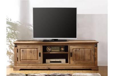Meuble TV Vente-unique Meuble tv ysandre - 2 portes & 2 niches ...