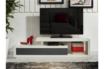 Meuble TV Vente-unique Meuble tv artaban - 2 tiroirs - mdf laqué ...