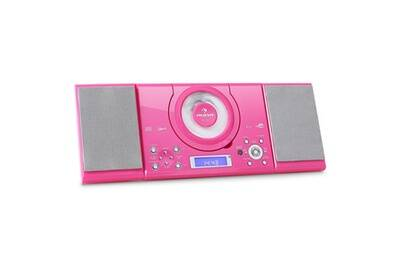 Mc 120 Chaine Hifi Stereo Lecteur Mp3 Cd Usb Rose