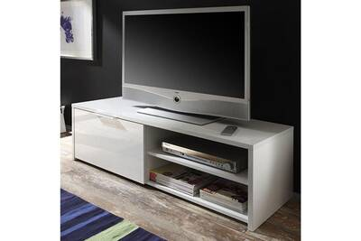 Meuble Tv Kasalinea Meuble Tele Blanc Laque Design Susie Darty