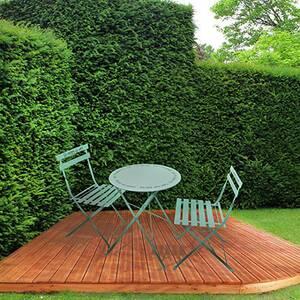 Salon de jardin Maisonetstyles Ensemble table + 2 chaises de jardin ...