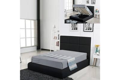 Lit De 2 Places Meubler Design Lit Coffre Design Alves Noir