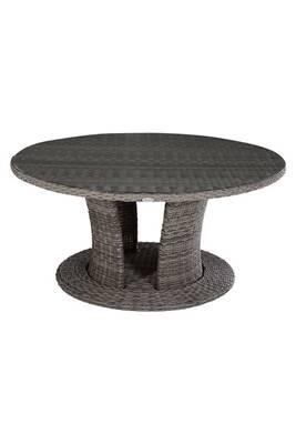 Table de jardin résine tressée mooréa - 8 personnes - gris terre d\'ombre