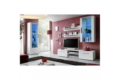 Meuble tv galino f design, coloris blanc mat. Meuble moderne et tendance  pour votre salon.