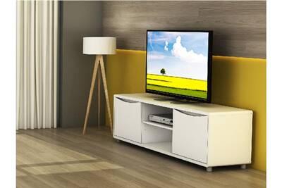 Meuble tv sorriso - blanc - 2 portes & 2 niches