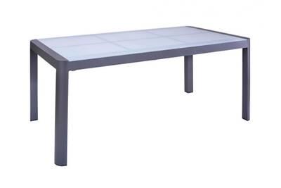 De Jardin L 180240cm 8 Samaxi Extensible Grise 6 À Manger En Table Couverts Aluminium gbf76y