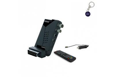 Sed mini récepteur tv terrestre tnt hd compact + câble 12v pour camping car