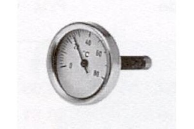 Accessoires chauffage central THERMADOR Thermomètre à plongeur - 0 à 120°c - raccord axial - diamètre cadran 63 mm