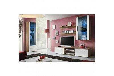 Salon d\'intérieur Price Factory Meuble tv galino f design, coloris ...