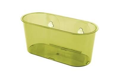 Set accessoires salle de bain kit accessoire de salle de bain swetty : 2  crochets + 1 panier + 1 poubelle ouverte 7 l - polystyrene - marron