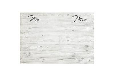 Tete de lit mr & mrs tete de lit style classique effet bois blanchi - l 160  cm