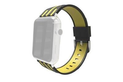 sélectionner pour plus récent bas prix 100% authentique Bracelet de montre en caoutchouc-pour apple watch 38mm stripe bracelet de  montre en silicone avec connecteur