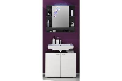 Meuble haut de salle de bain - element mural de salle de bain - armoire de  toilette tetis armoire de toilette l 72 cm - gris graphite