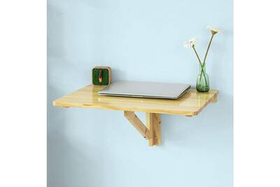 Sobuy Fwt03 N Bureau Enfant Table Murale Rabattables Table De Cuisine Pliante Table à Rabat Pour Enfant Pliable L60cmxp40cm Transparent