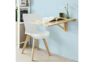 Sobuy Fwt04 N Table Murale Rabattable En Bois Table Pour Les Enfants Bureau Table De Cuisine