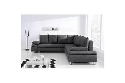 nouveau concept 9eeca f76d5 Canape - sofa - divan naho canapé d'angle réversible convertible 6 places -  tissu gris - contemporain - l 265 x p 98 cm