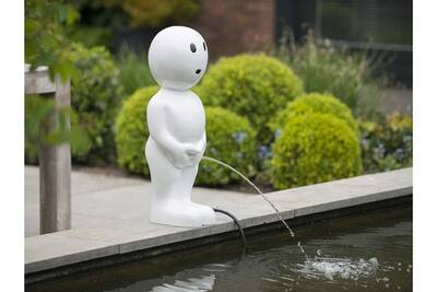 Fontaine De Bassin Boy 67 Cm Blanc