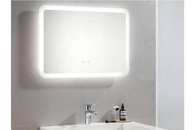 Miroir de salle de bain lumineux rectangle à leds orbitea - l70 xp3.5 xh50