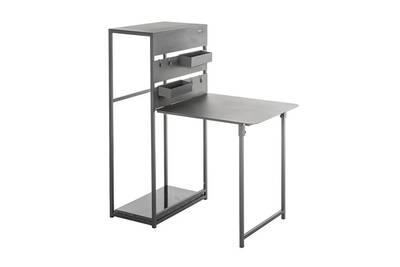 Table balcon pliante fira graphite 3 places - hespéride