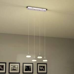 Lumières Vidaxl Suspendue Led Blanche 4 Superbe Plafonniers Lampe Icaverne Avec Chaude R45jAL